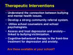 therapeutic interventions