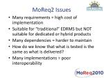 moreq2 issues