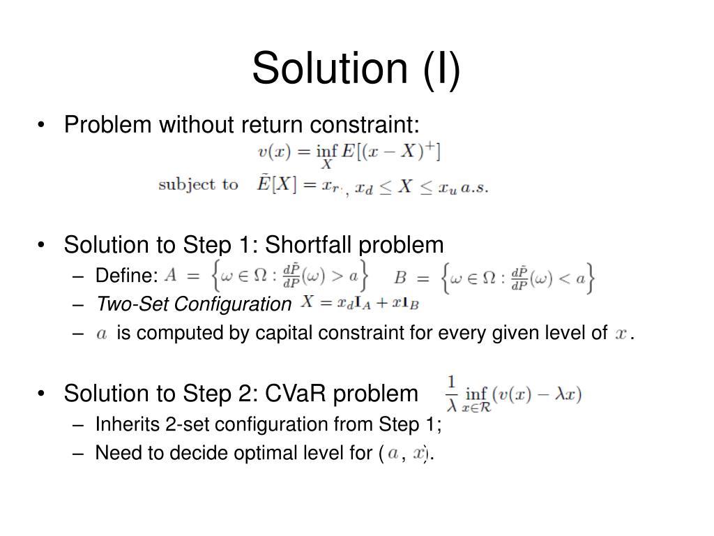 Solution (I)