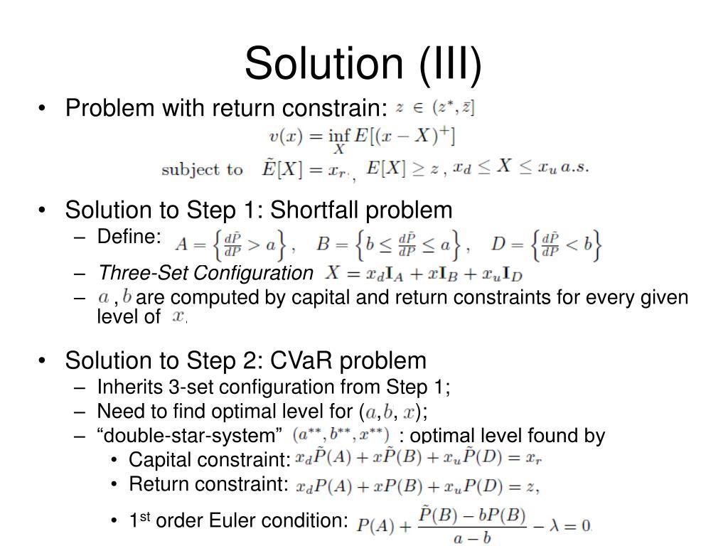 Solution (III)