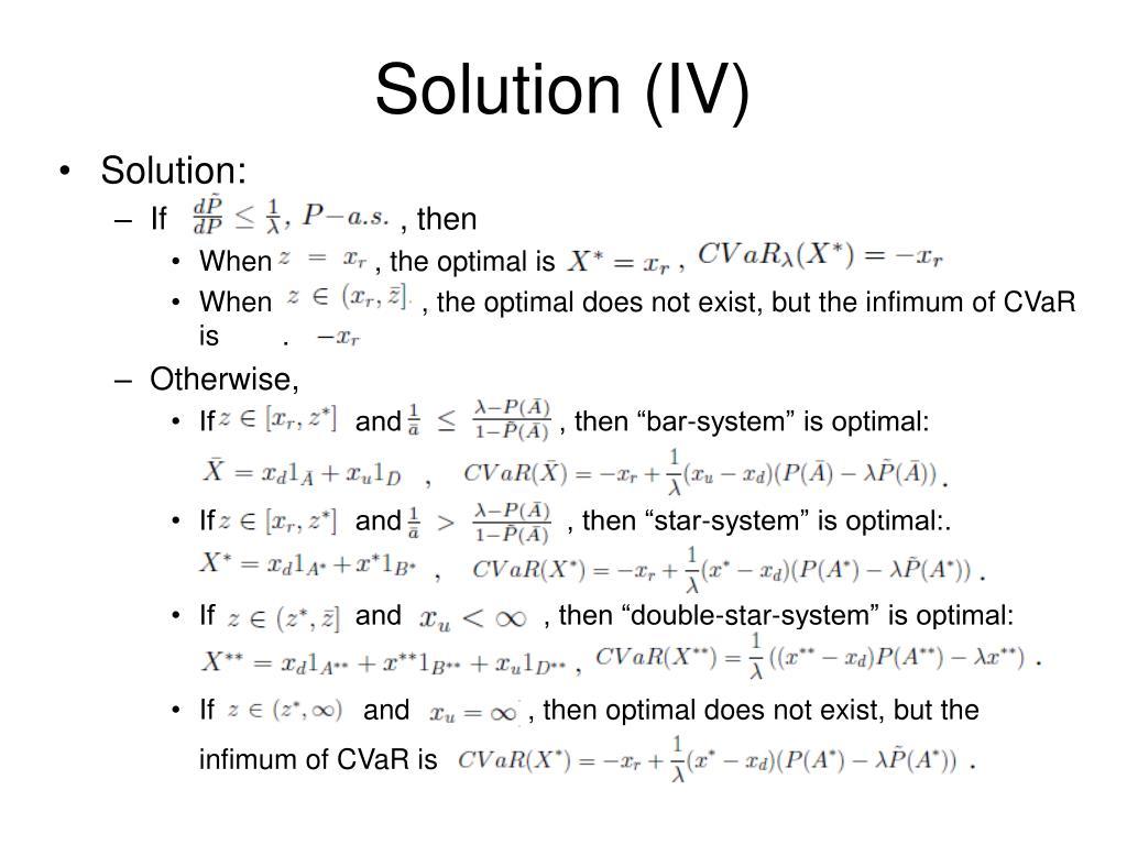 Solution (IV)