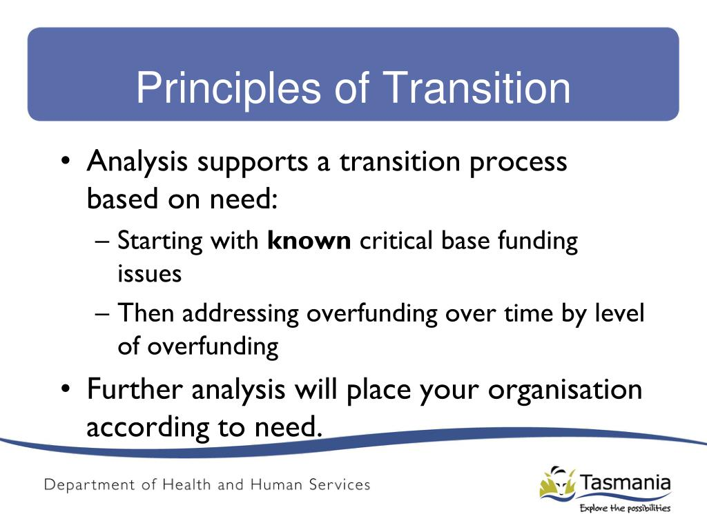 Principles of Transition