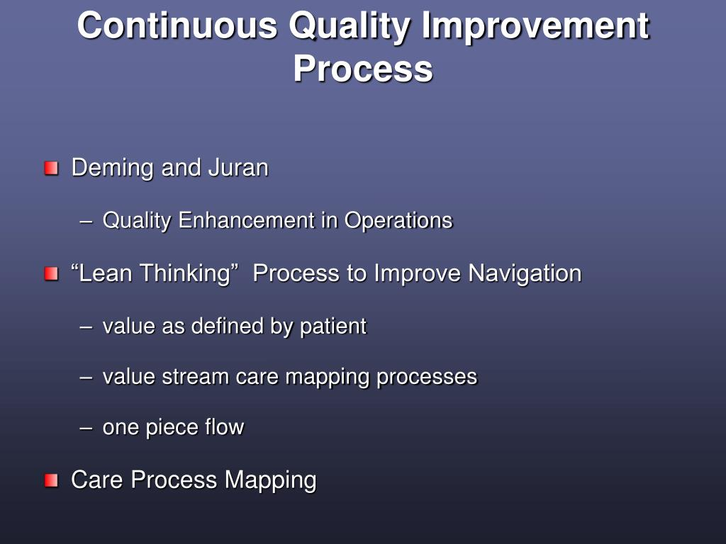 Continuous Quality Improvement Process