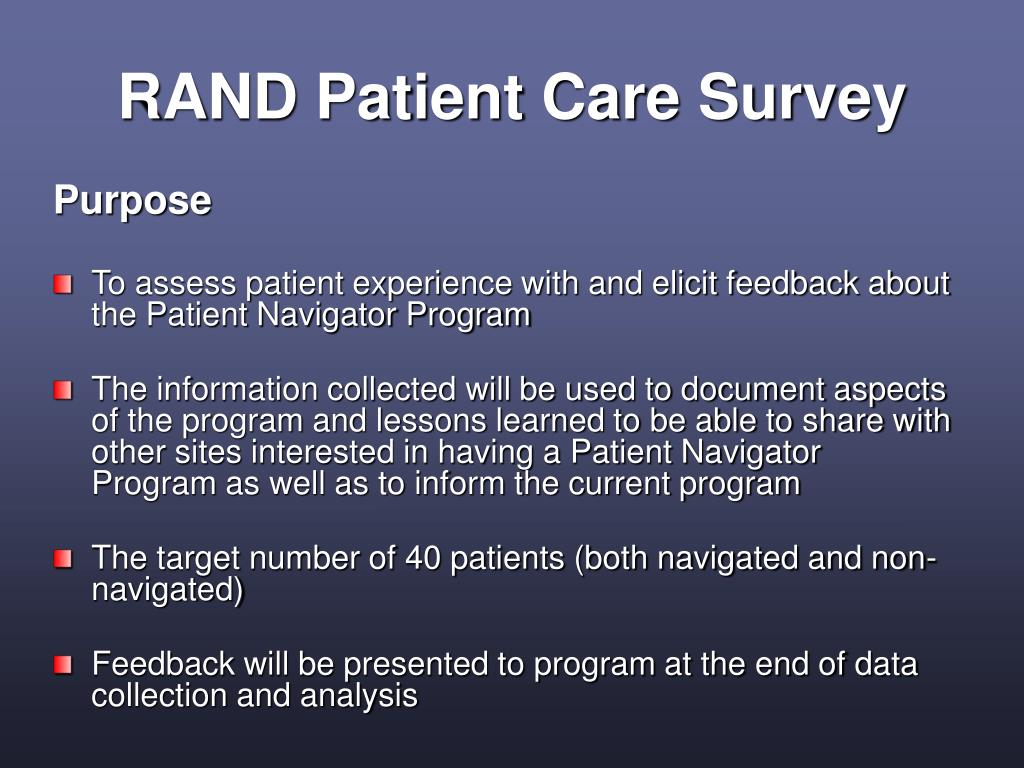 RAND Patient Care Survey