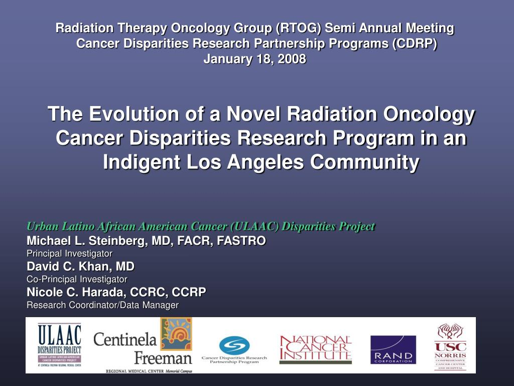 Radiation Therapy Oncology Group (RTOG) Semi Annual Meeting