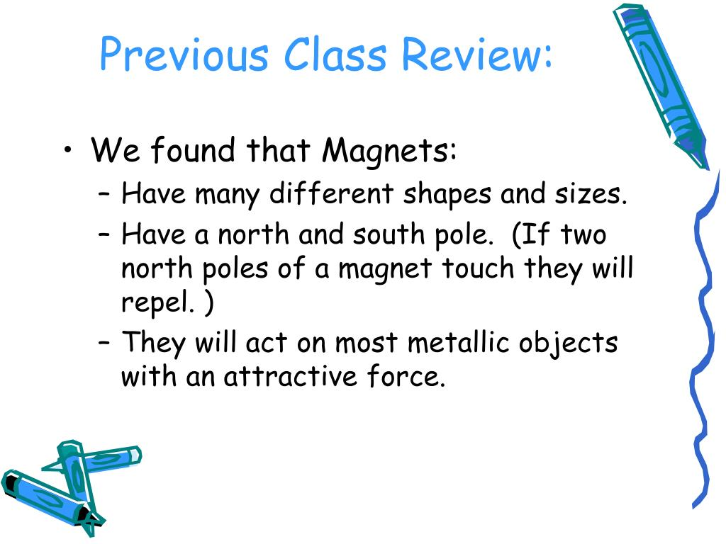 Previous Class Review: