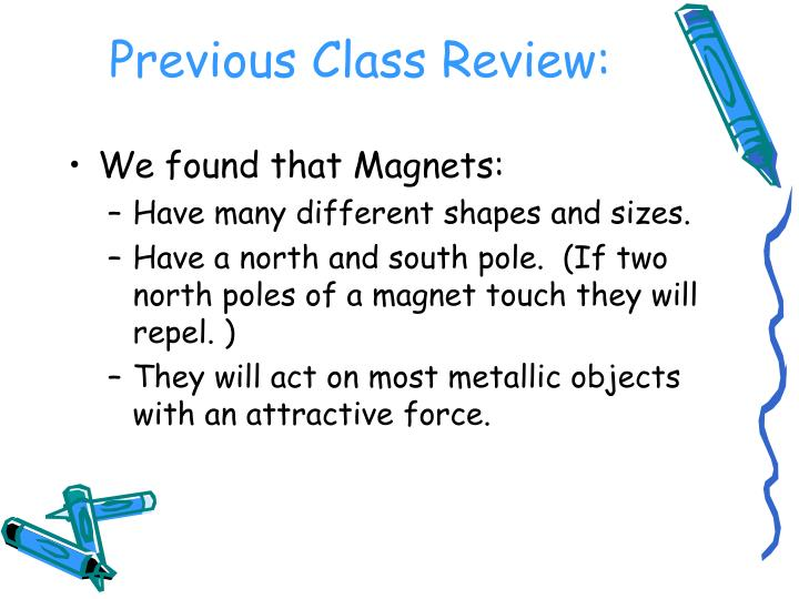 Previous class review
