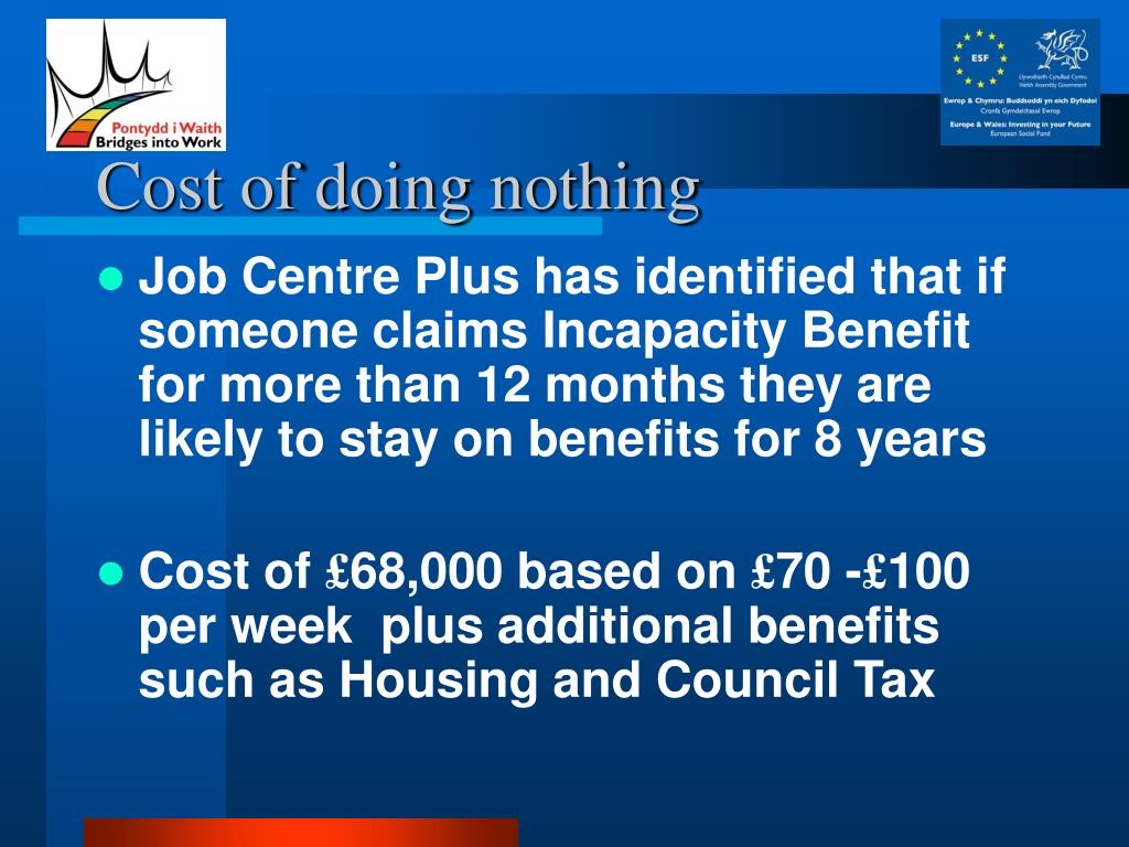 Cost of doing nothing
