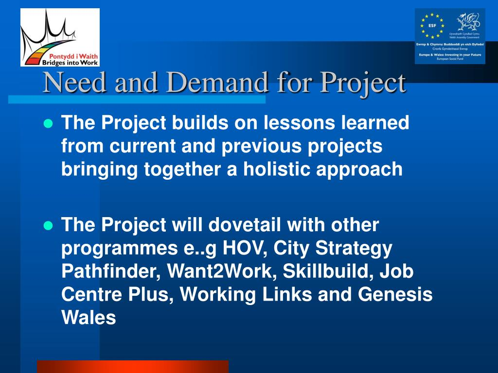 Need and Demand for Project