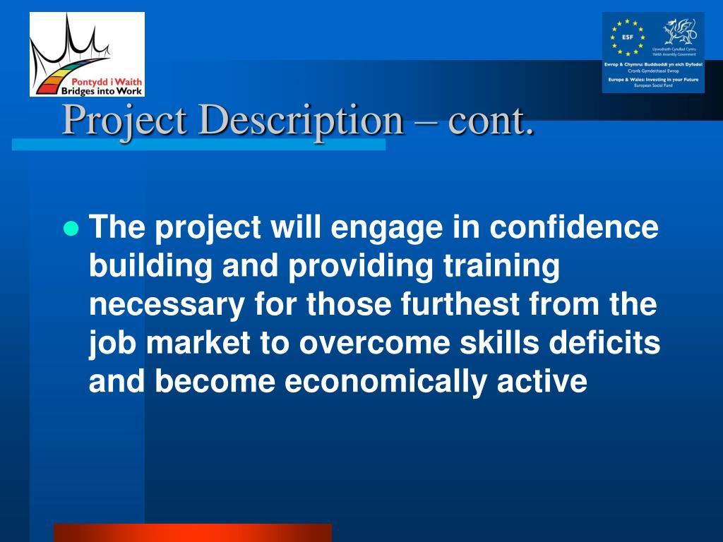 Project Description – cont.
