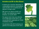 iniciativa de bp en bio diesel
