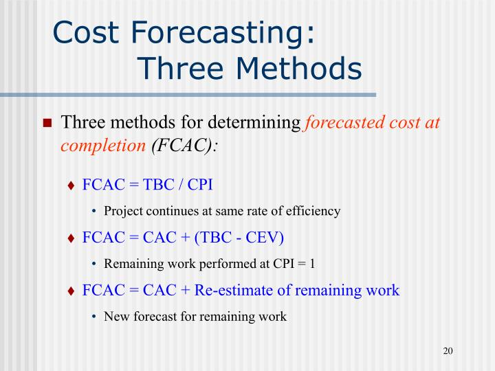 Cost Forecasting: