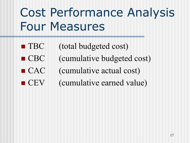 Cost Performance Analysis