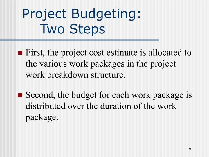 Project Budgeting: