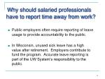 why should salaried professionals have to report time away from work