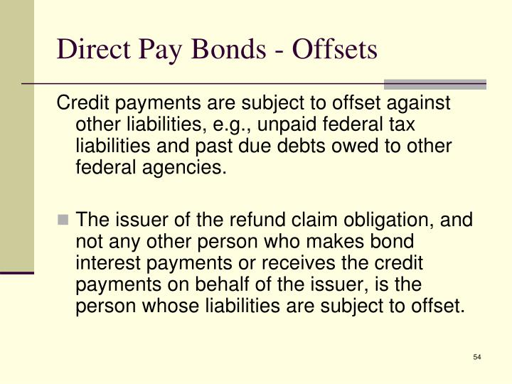 Direct Pay Bonds - Offsets