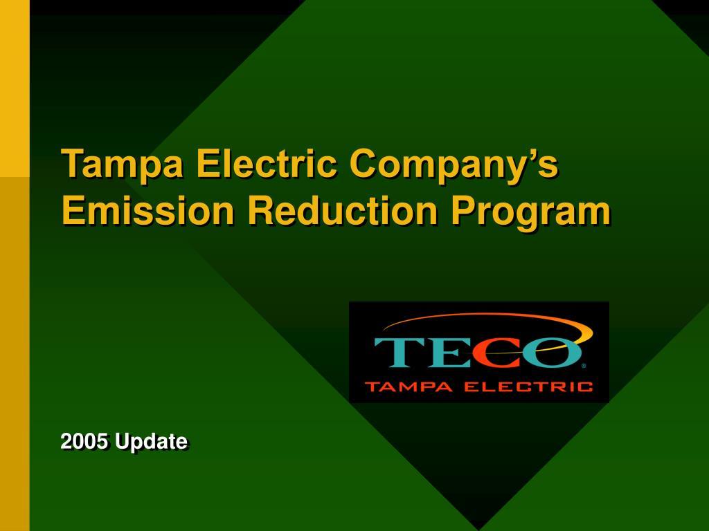 tampa electric company s emission reduction program l.