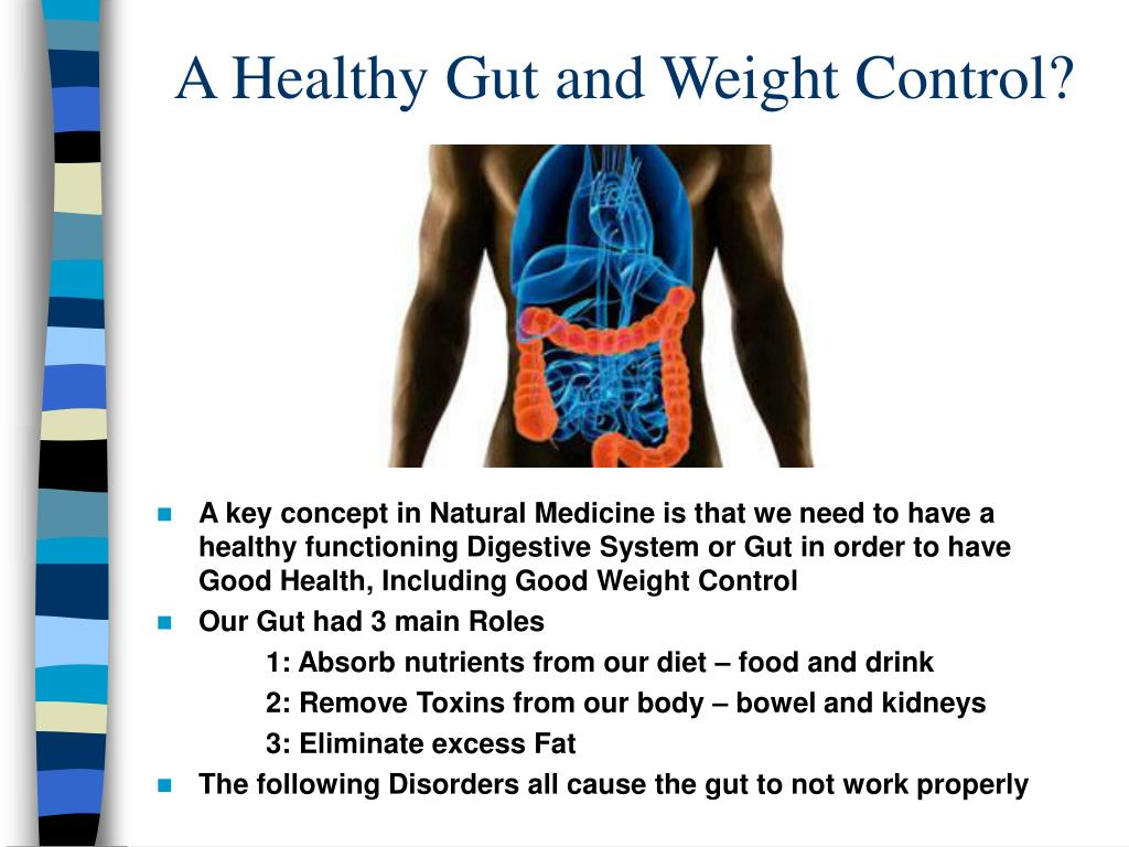 A Healthy Gut and Weight Control?