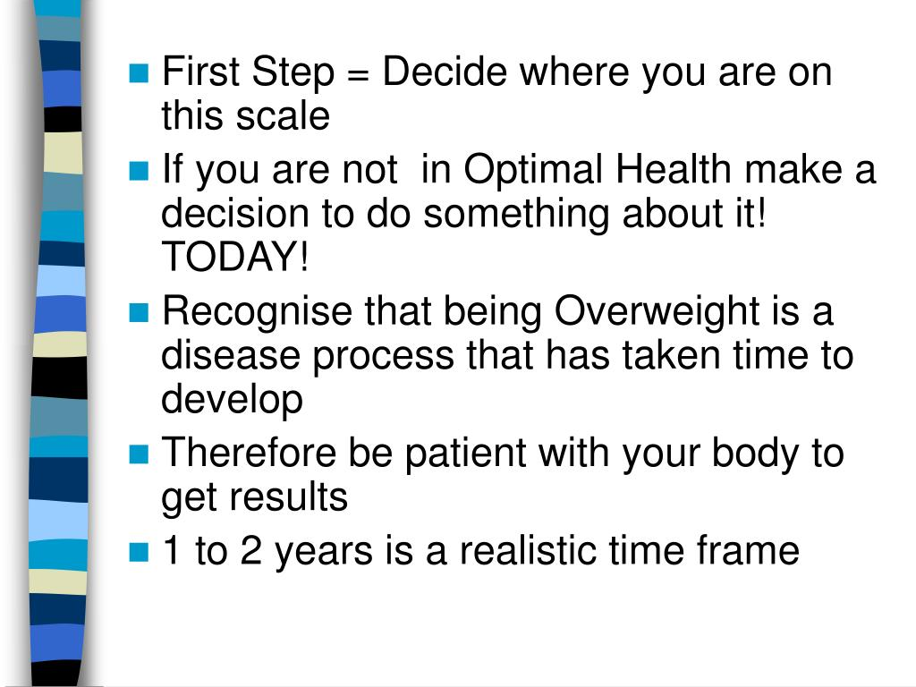 First Step = Decide where you are on this scale