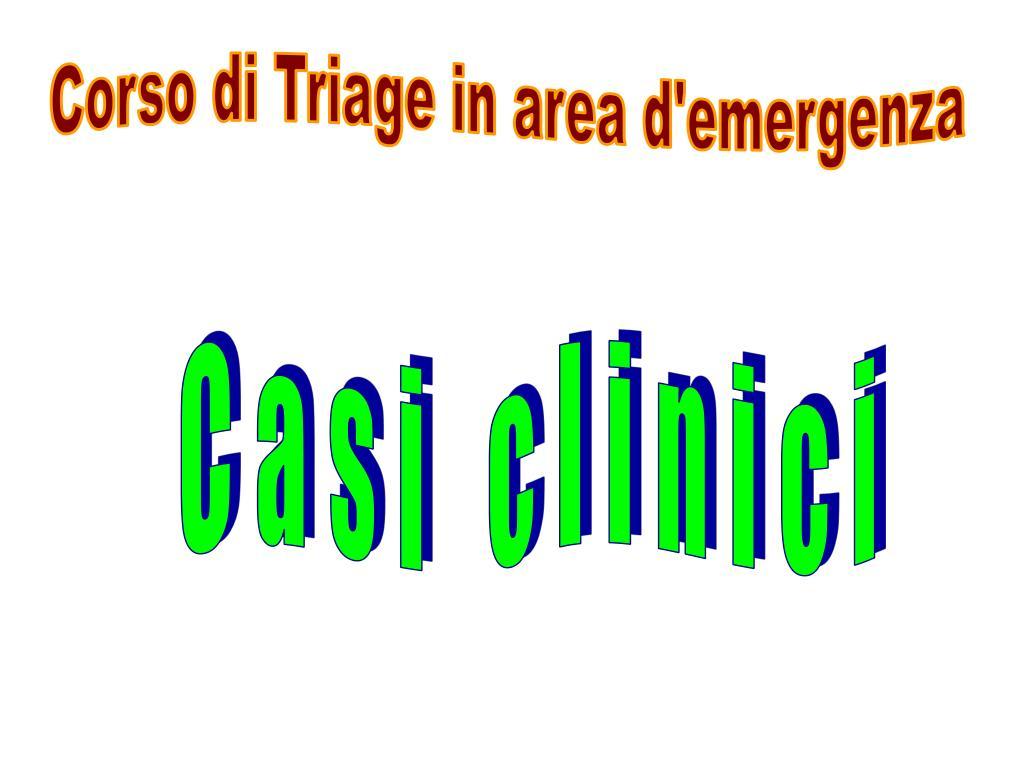 Corso di Triage in area d'emergenza