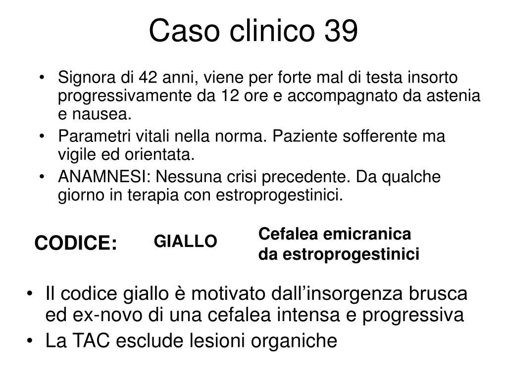 Caso clinico 39