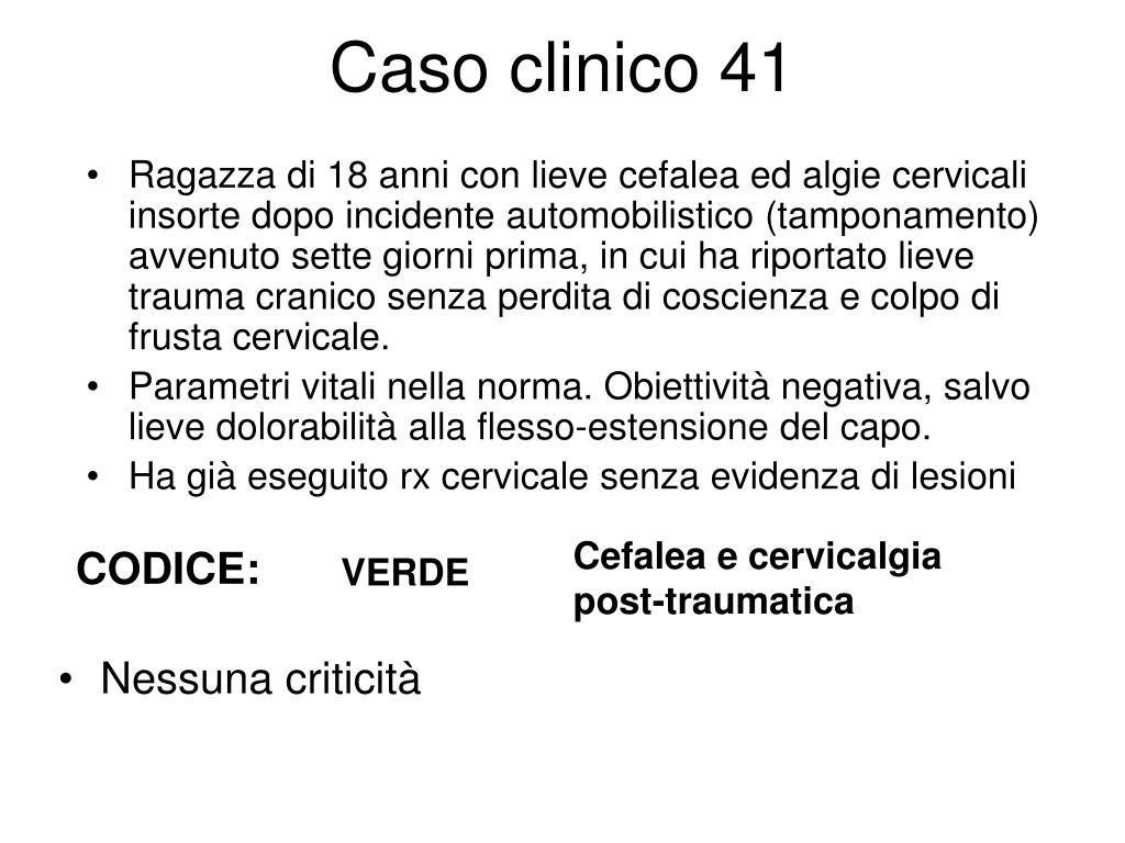 Caso clinico 41