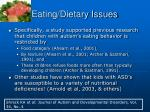 eating dietary issues