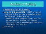 melatonin in autistics