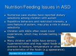 nutrition feeding issues in asd