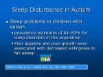 sleep disturbance in autism