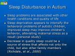 sleep disturbance in autism22