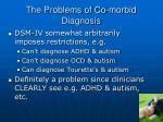 the problems of co morbid diagnosis