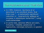 the psycho stimulants their role40