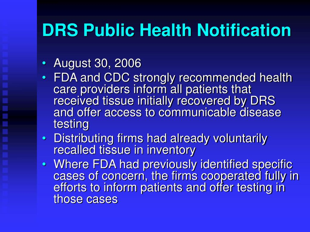 DRS Public Health Notification