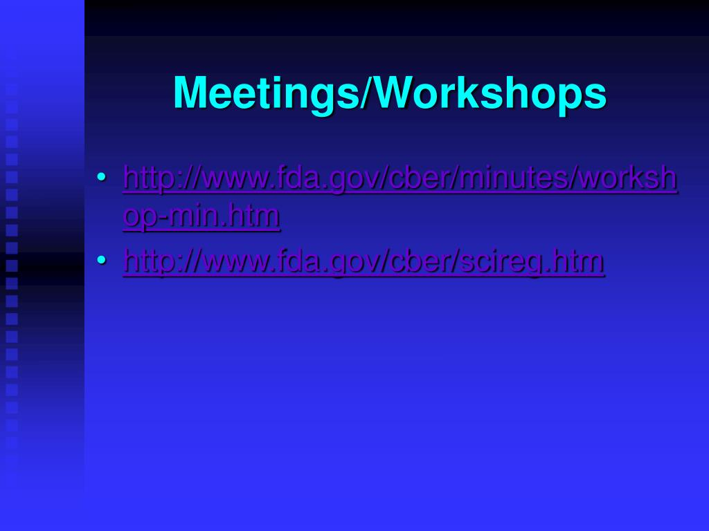Meetings/Workshops