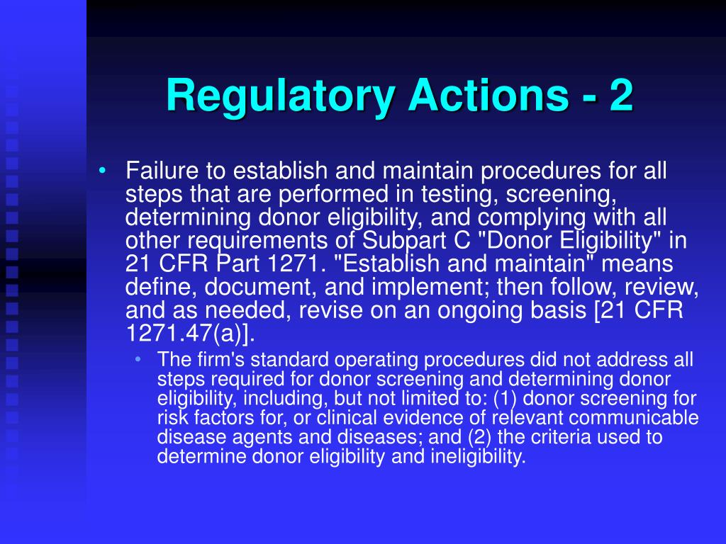 Regulatory Actions - 2