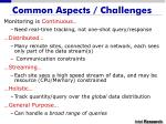 common aspects challenges