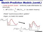 sketch prediction models contd