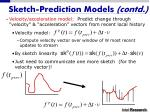sketch prediction models contd19