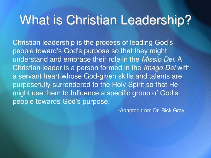 What is christian leadership