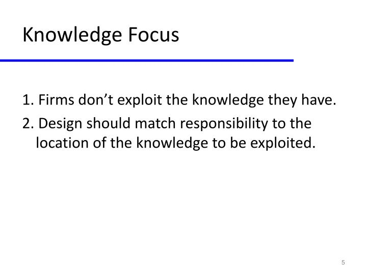 Knowledge Focus