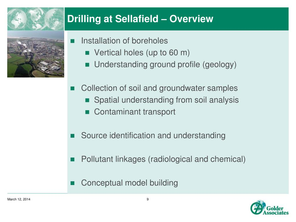 Drilling at Sellafield – Overview
