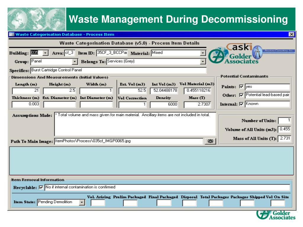 Waste Management During Decommissioning