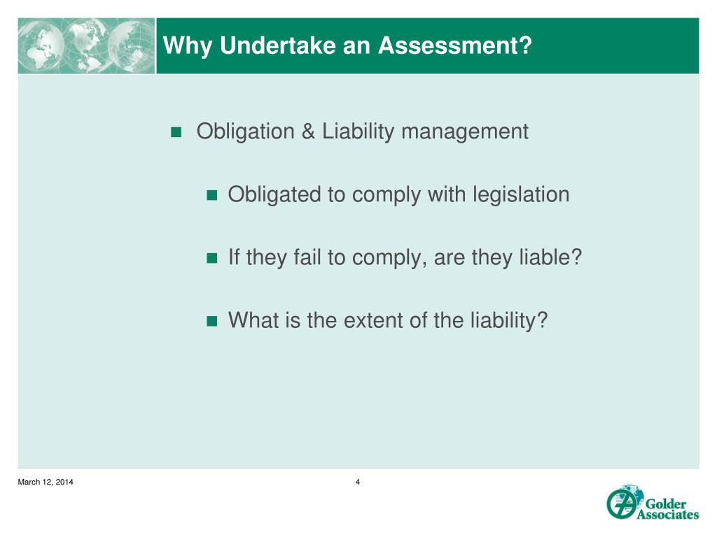 Why Undertake an Assessment?