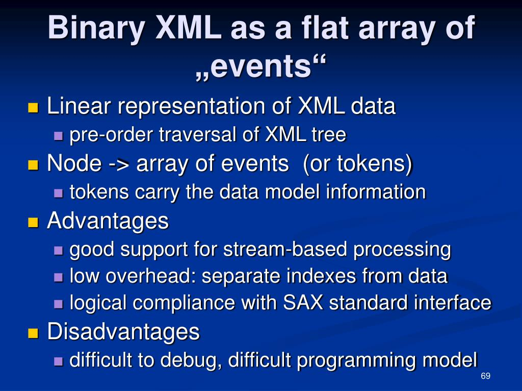 "Binary XML as a flat array of ""events"""