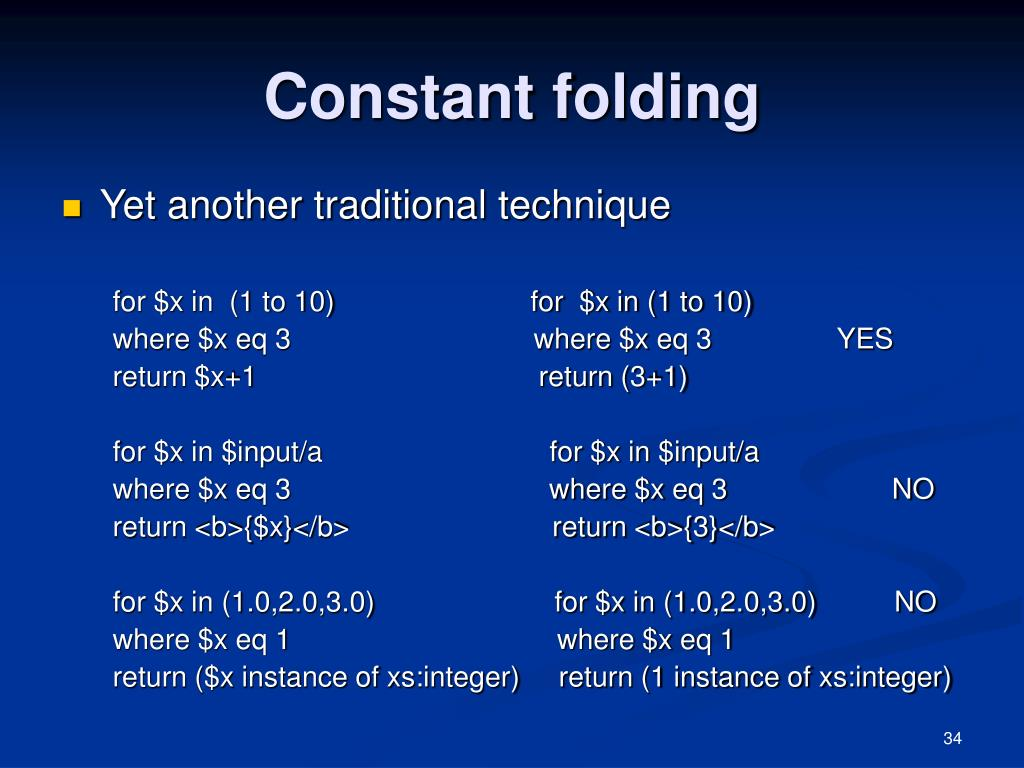 Constant folding