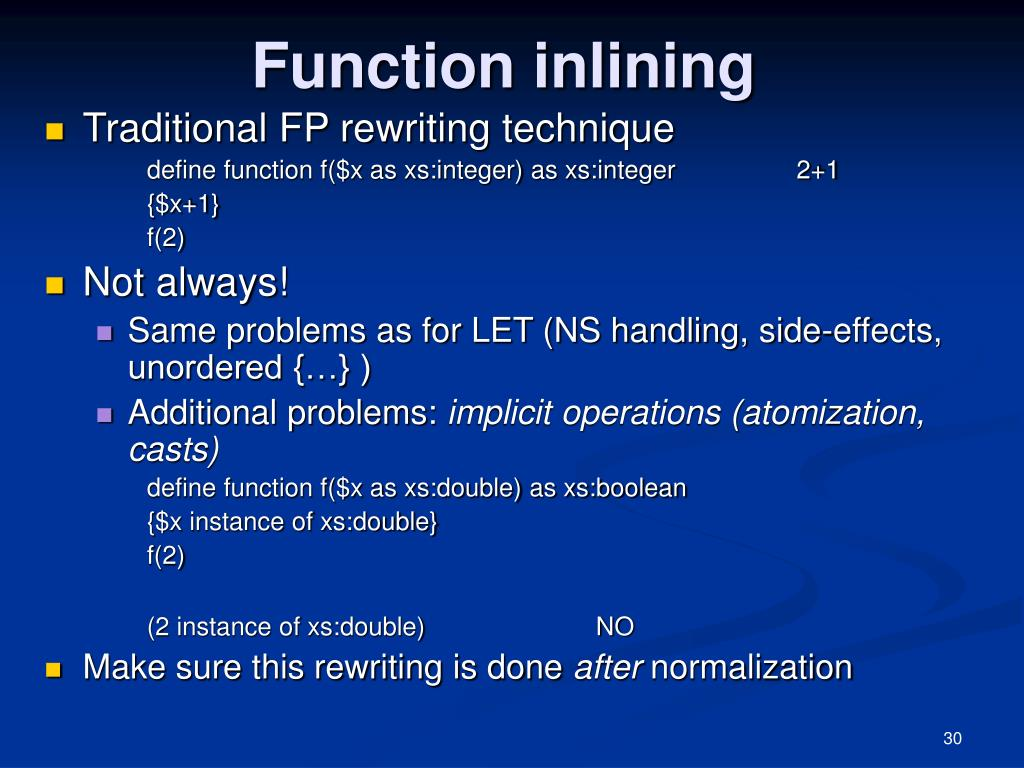 Function inlining