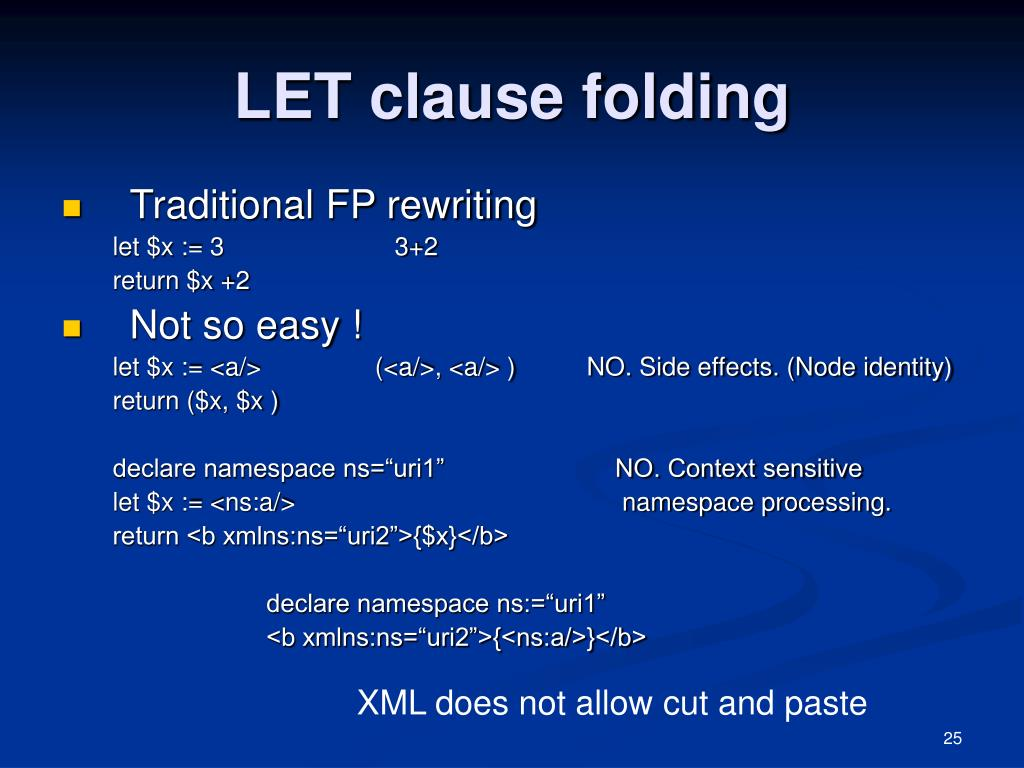 LET clause folding