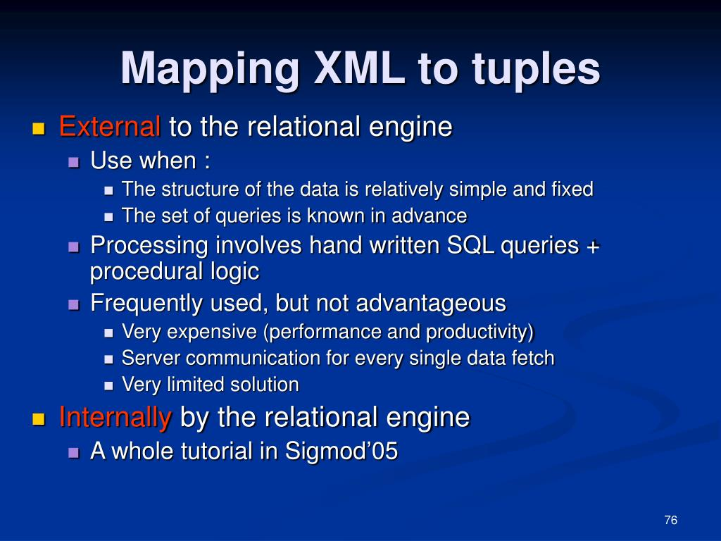 Mapping XML to tuples