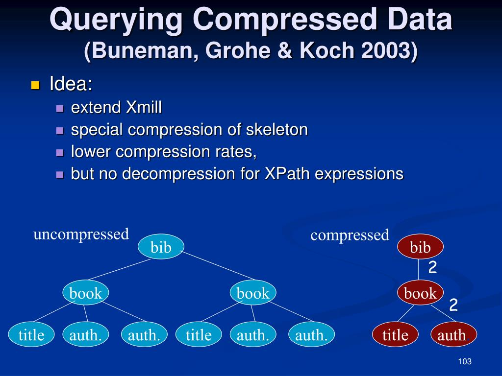 Querying Compressed Data